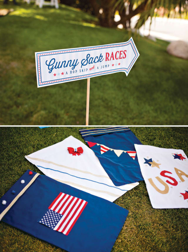 Gunny sack races DIY