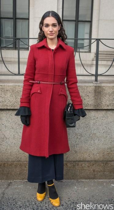 Jacket, Tory Burch pants, DKNY bag