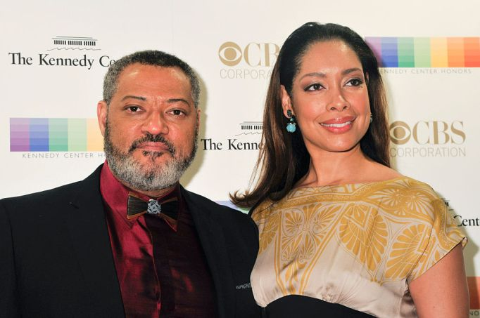 Gina Torres and Laurence Fishburne attend the Kennedy Center Honors Gala