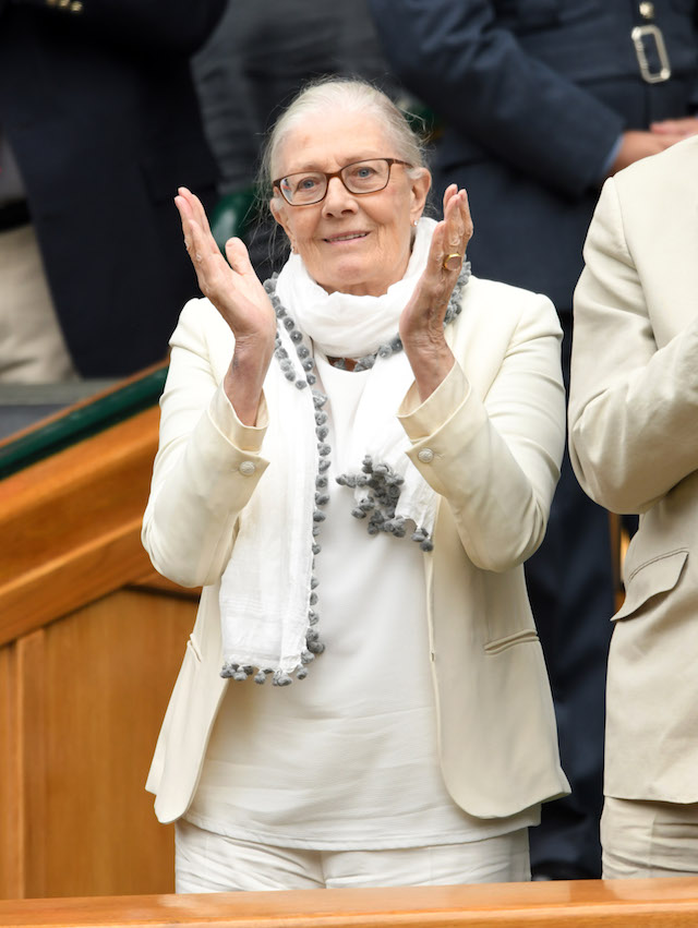 Vanessa Redgrave attends day eight of the Wimbledon Tennis Championships at the All England Lawn Tennis and Croquet Club