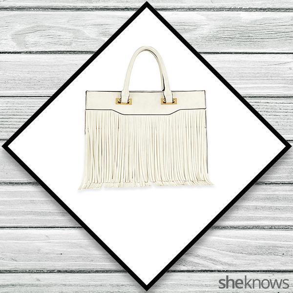 ALDO white fringe purse