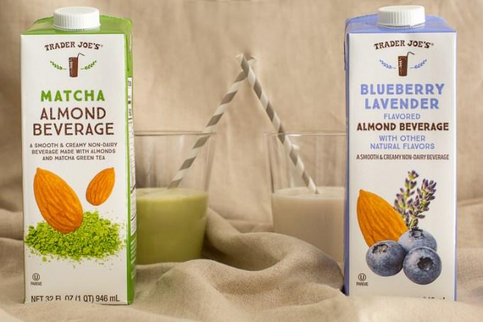Trader Joe's Blueberry Lavender and Matcha Almond Beverage