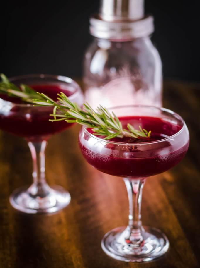 Savory Gin, Cynar, and Beet Juice Cocktail
