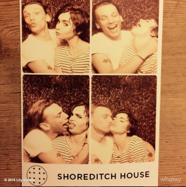 Lily Collins Jamie Campbell Bower instagram photobooth