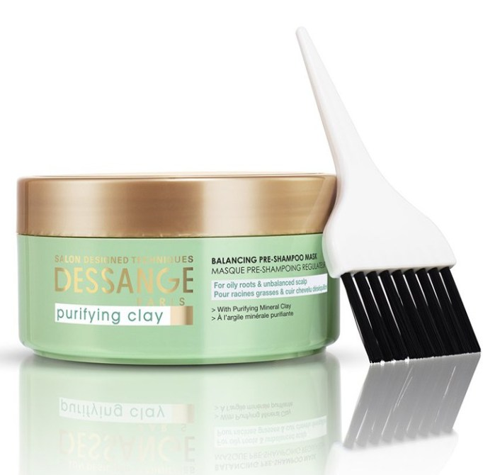 Products That Get Rid of Greasy Hair Fast   Dessange Paris Purifying Clay Pre-Shampoo Mask