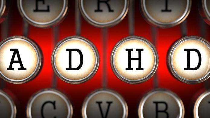 ADHD on Old Typewriter's Keys on
