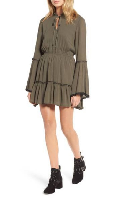 Must-Have Long Sleeve Dresses | Lost + Wander Olivia Bell Sleeve Dress