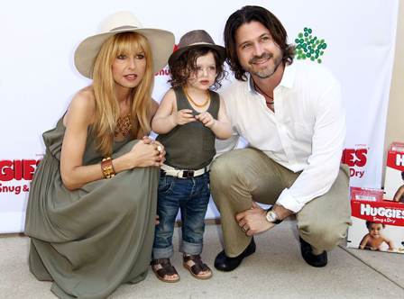 Rachel Zoe with her husband and son, Skyler