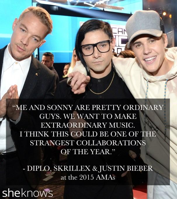 Skrillex, Diplo & Justin Bieber 2015 AMA