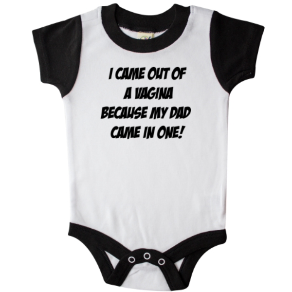 caf86ded2 15 'hilarious' onesies for babies that may just cross a line – SheKnows