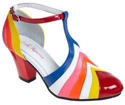 Multicolored heel