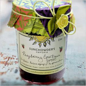 Sunchowder rasberry jam