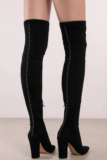 Best Pairs of Over-the-Knee Boots: Dolce Vita Emmy Studded Suede Thigh High Boots | Fall and Winter Fashion 2017