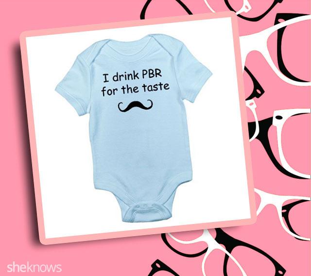 I drink PBR for the taste onesie