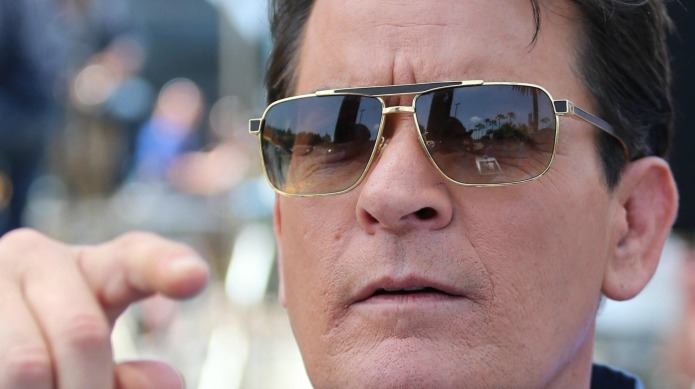 Charlie Sheen reacts to his ex-fiancée's