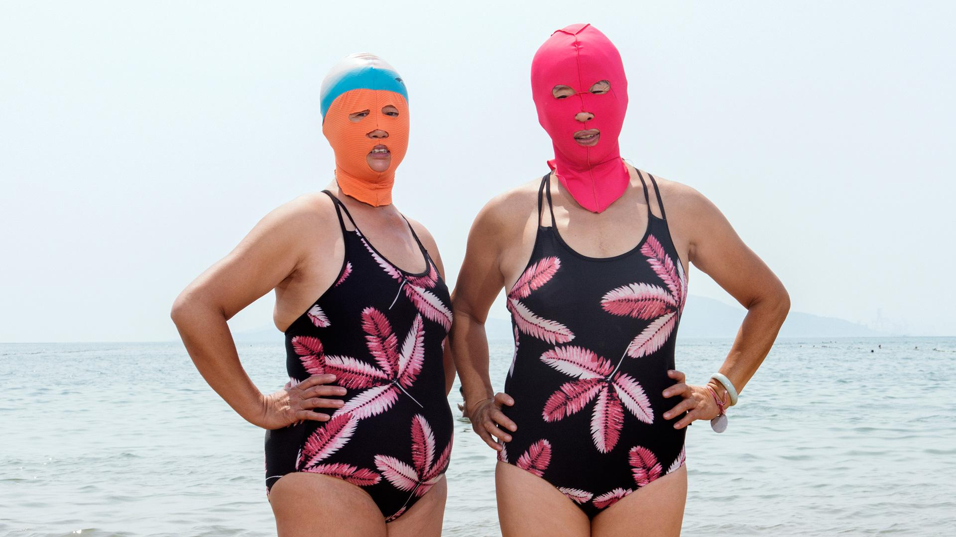 """90cc4f6364 Face-kinis"""" are the latest trend in swimwear for Chinese women ..."""