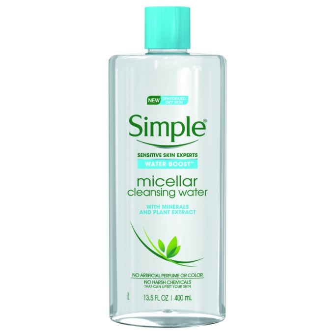 Some micellar water to put these tricks to the test | Simple Water Boost Micellar Water