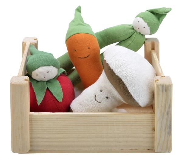 Best Baby Shower Gifts for ANY Baby | Organic Cotton Teether Veggie Crate