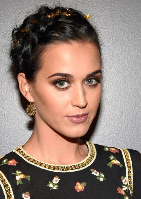 Best Celebrity French Braids: Katy Perry's Textured French Crown Braid | Celeb Hairstyles 2017
