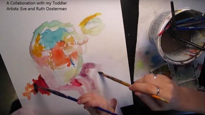 Artist involves daughter in creative journey