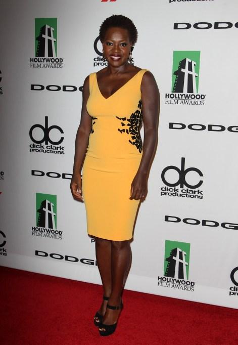 Viola Davis red carpet looks: 2013 Hollywood Film Awards