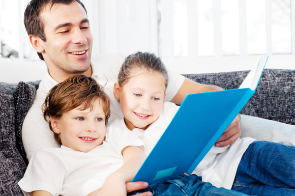 Image result for reading book with children