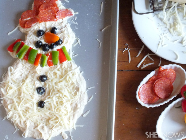 Uncooked snowman
