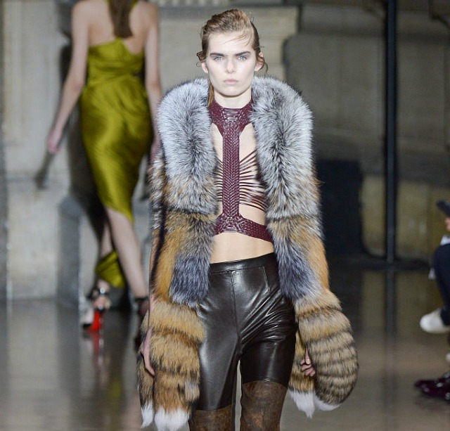 Real fur makes a comeback on the catwalk