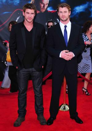 Liam Hemsworth and brother Chris Hemsworth
