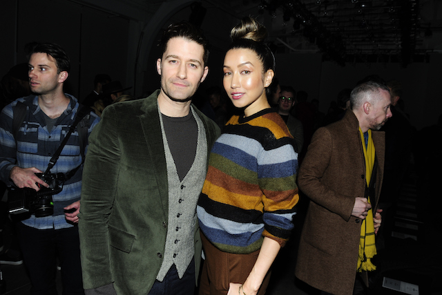 Matthew Morrison and Renee Morrison attend the Todd Snyder February 2018 fashion show