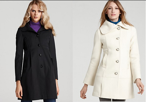 Hip-length fall coats