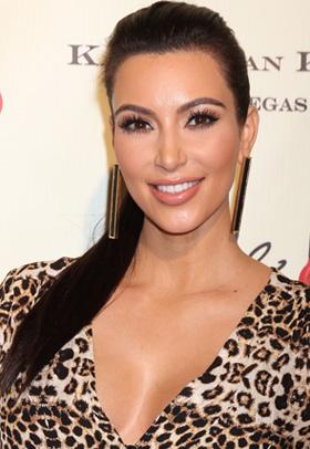 Kim Kardashian's high ponytail
