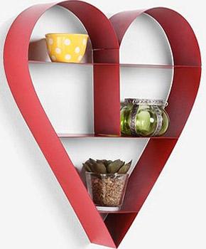 heart curio shelf