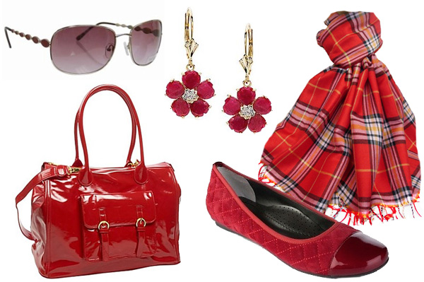 Red fashion for Valentine's Day