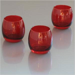 Red glass votives