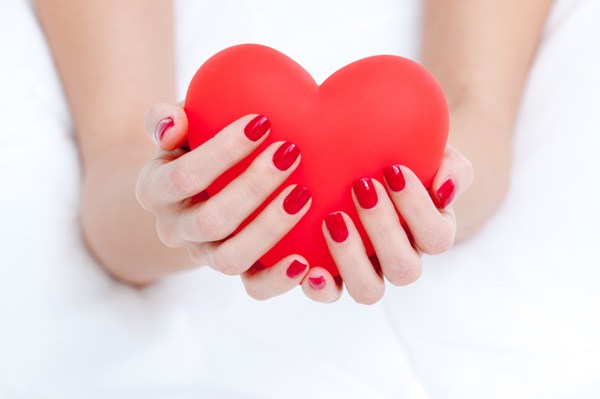 Red nails for Valentine's Day