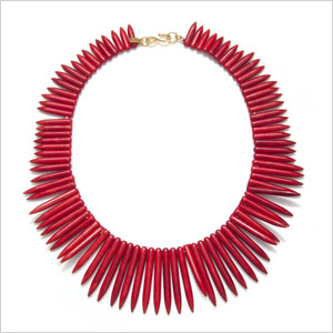Kenneth Jay Lane Red Spike Necklace
