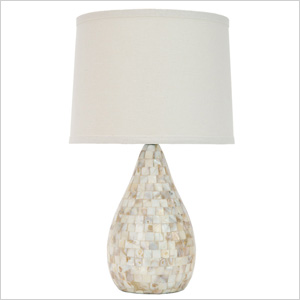 Safavieh White Lauralie Ivory Shell lamp