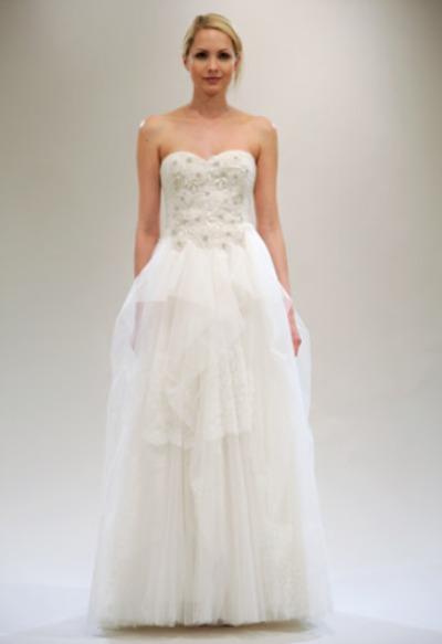 Reem Acra A-line bridal gown