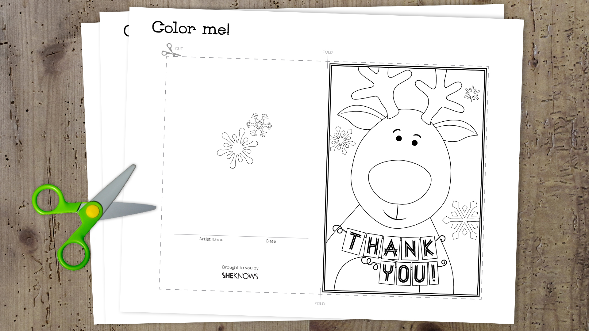 3 Printable holiday \'thank you\' cards kids can color themselves ...