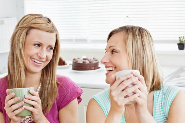 Friends having coffee