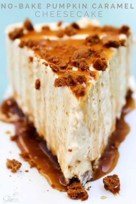 Easy No-Bake Thanksgiving Desserts: Pumpkin-Caramel Cheesecake