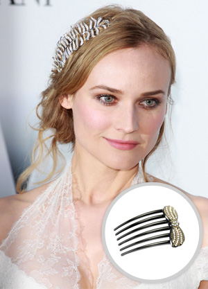 Dianna Kruger with hair comb