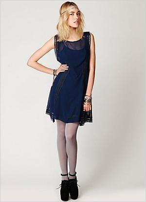 Short Sleeved Flapper Dress