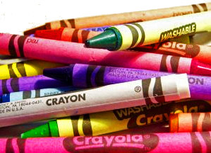 reuse your old crayons