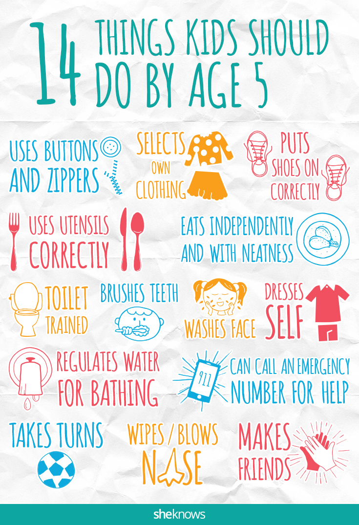 14 Things Kids Should Do By Age 5 Sheknows