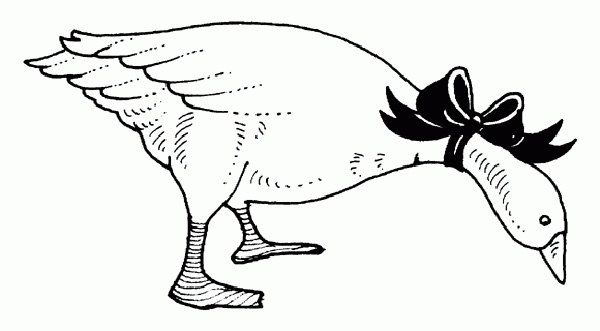 Goose coloring page
