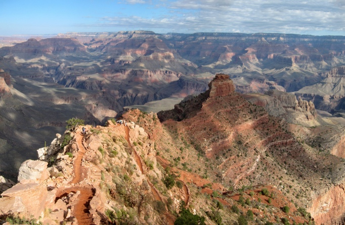 The Kaibab trail in Grand Canyon National Park