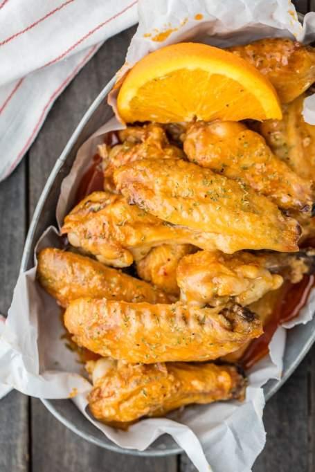 Baked orange soda hot wings