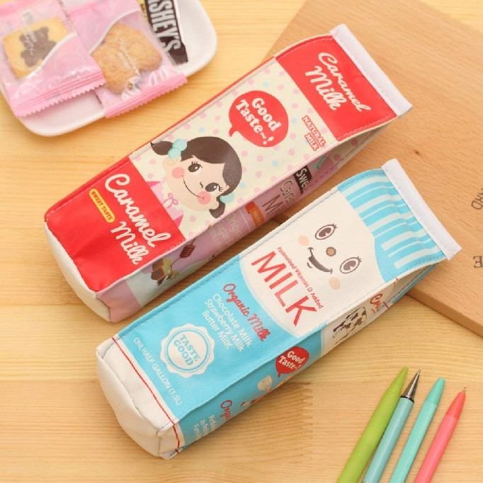 Funny Live waterproof milk cartons pencil case